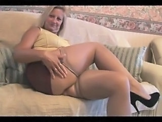 Chubby Legs Mature Mom Stockings