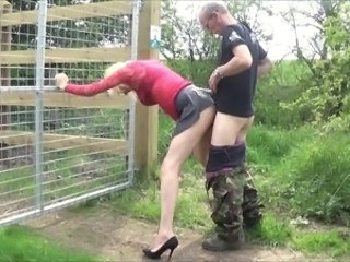 Amateur Clothed Doggystyle Outdoor Public Wife