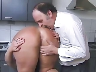 Ass Kitchen Older Wife