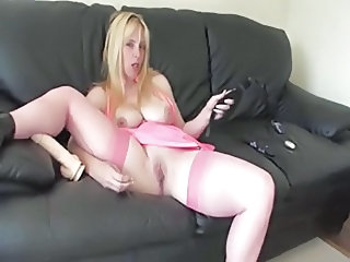 Big Tits British European  Mom Natural Pussy  Shaved Solo Stockings