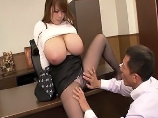 Asian Big Tits Japanese  Natural Pantyhose Pornstar Secretary