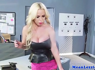 Big Tits Blonde  Office Smoking