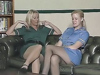 British European Lesbian  Stockings