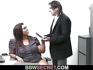 Ebony Glasses Interracial  Office Secretary