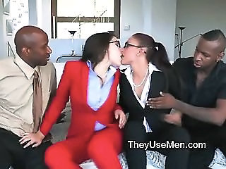 Glasses Groupsex Interracial