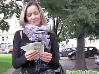 Amateur Cash  Outdoor Pov Public