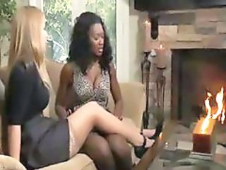 Big Tits Ebony Interracial Legs Lesbian  Stockings