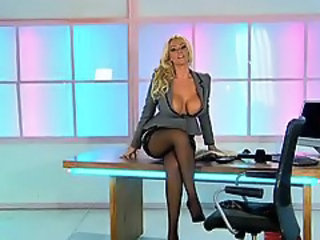 Amazing Big Tits  Office Pornstar Secretary Stockings