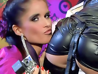 Ass Clothed Latex Lesbian