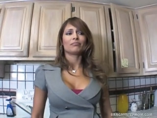 Big Tits Kitchen Latina  Mom Silicone Tits