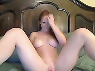 Masturbating  Redhead Shaved Solo Webcam
