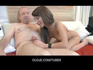 Daddy Daughter Handjob Old and Young Small cock Teen