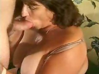BBW Mature shot at fun with young cook