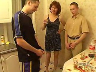 Mother seduced drunk son and his friends