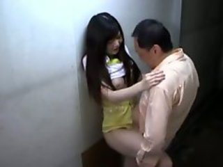 Asian Girl In Skirt Giving Blowjob Fucked While..