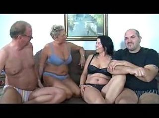 German Full-grown Couples Fuck Party