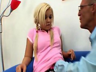 Teenie slut Emma Hart got fucked by grandpa doctor
