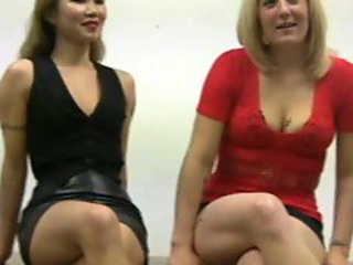 2 Hot Girls Jerking Guys