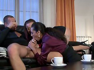 Cindy Dollar fully clothed close to hot slut get hard mad about