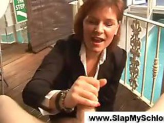 Mature wendy taylor gives harsh handjob