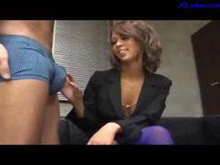 Hot Office Lady Giving Blowjob On Her Knees Cum To Mouth Swallowing On Along to Floor In Along to Office