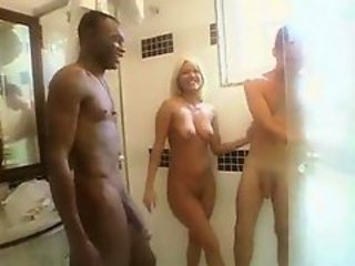 Interracial bisexual triplet scene