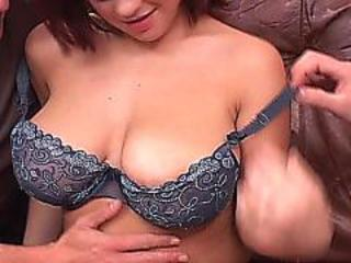 Teen with big tits gets dp