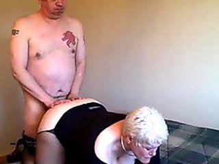Granny with fat ass fucked from behind