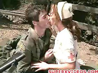 Terra Park sucking with an increment of fucking horny militar blowjob