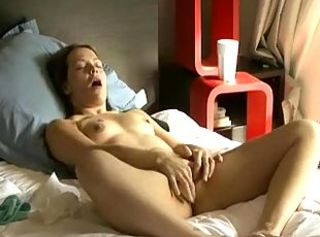 Real orgasm alone in bed