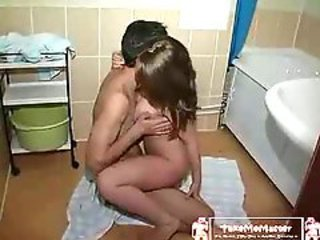 Teen(18+) Takes Care Of Her Stepbrothers Dick