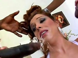 Giant black members for slutty hot Francesca Le