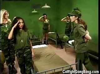 Catfight Gangbang with the Army