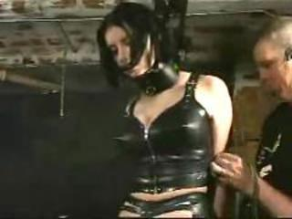 P0 extreme pain bound in a sweat electric torture bdsm