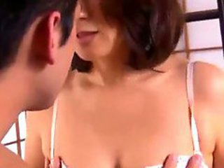 Milf Giving Blowjob For Guy Getting Her Tits..