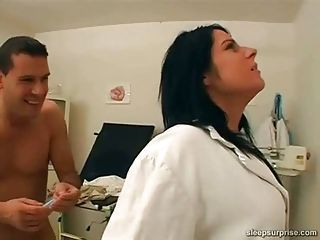 Doctor fucked while she is asleep