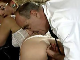Mature making love with hairy MILF increased by her doctor