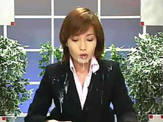 Japan News with Cumshots. Scene 2