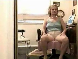 Finally A Real Amateur Mom In Homemade Tape ( mother milf granny blonde )