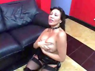 Analfucked milf in latex