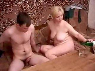 Blond Russian MILF gets fucked by an amateur