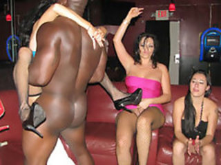 Boozed Girlfriends Wild Partying take Male Strippers