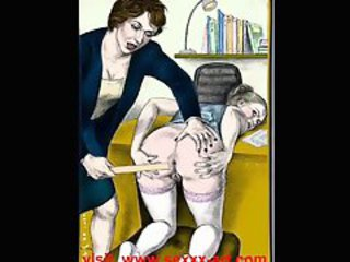 Bizarre And Glum Womanlike Spanking Artwork