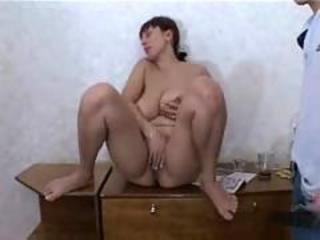 Russian mature murky mom gangbang