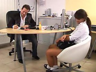 Job interview turns into hardcore sex for her