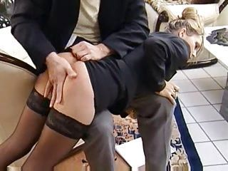 Secretary Spanked and Fucked