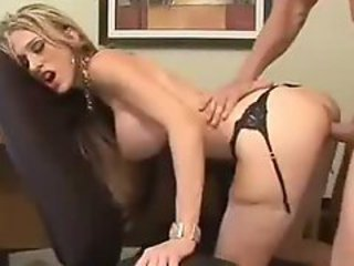 Secretary Office Blonde In Stockings SM65