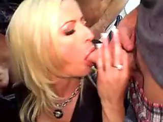 Huge Tits Blonde Slut Sucks 7 Guys Huge Bukkake