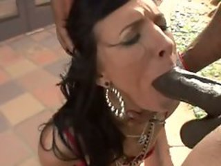 Dirty hooker Ashli Orion cheats on their way husband wide a thick black flannel rod