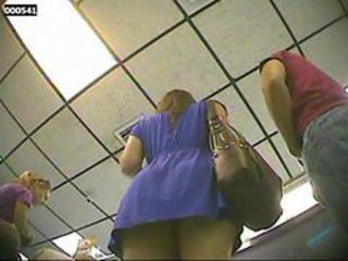 Upskirt No Panties at Ice Cream Shop